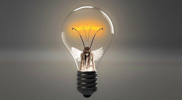 andělská žárovka