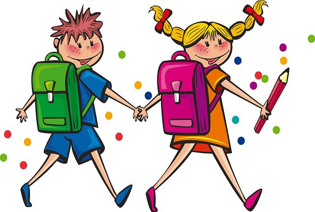 školák a školačka